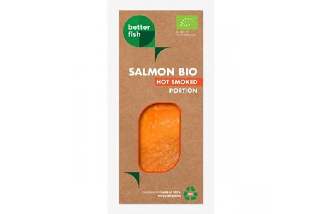 ŁOSOŚ ATLANTYCKI WĘDZONY NA GORĄCO PORCJA BIO 100 g (KOPERTA) - BETTER FISH (B SALMON)
