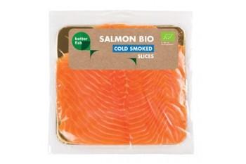 ŁOSOŚ ATLANTYCKI PLASTRY WĘDZONE NA ZIMNO BIO 100 g - BETTER FISH (B SALMON)