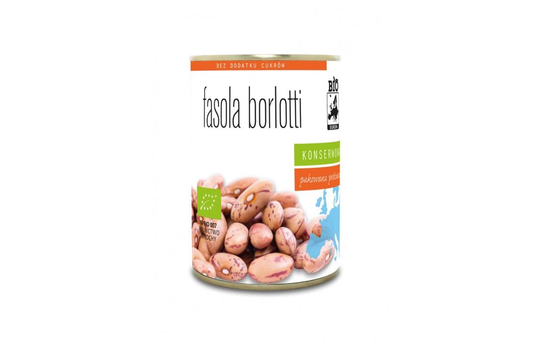 FASOLA BORLOTTI KONSERWOWA BIO 400 g (250 g) - BIO EUROPA